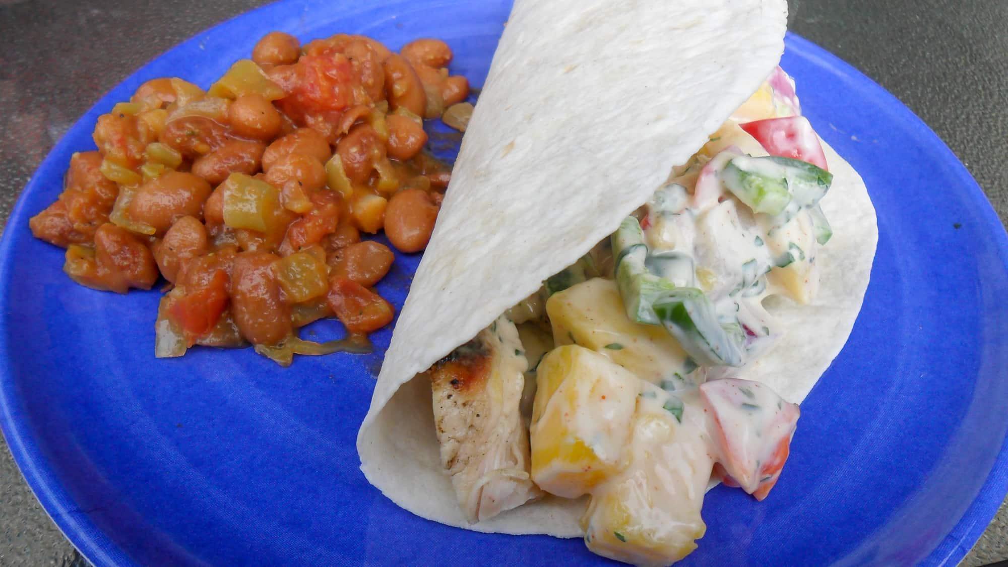 Chicken Tacos With Mango Cilantro Ranch Recipe The Black Peppercorn