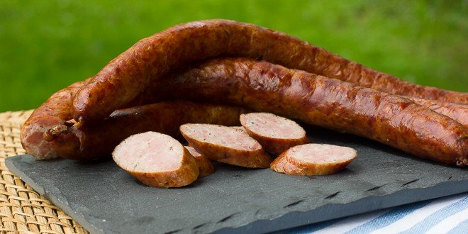 picture of delicious kielbasa here