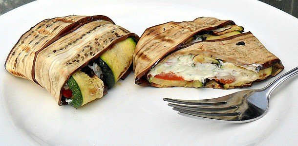 Grilled Vegetable Stack with Goat Cheese Stuffing