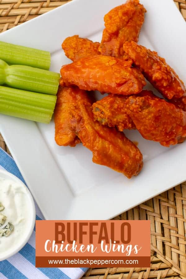 Restaurant style buffalo chicken wings made at home. Easy to prepare wings recipe with a traditional hot and spicy sauce. Great deep fried tail gate party snack.