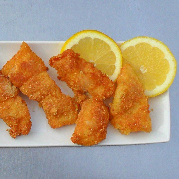 A tasty way to make catfish using corn meal, corn flour and Slap Ya Mama Cajun spice. In the past we have made it with Zatarain's creole seasoning.