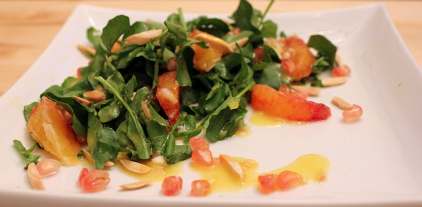 Watercress Salad with White Pomegranate, Blood Oranges and ...