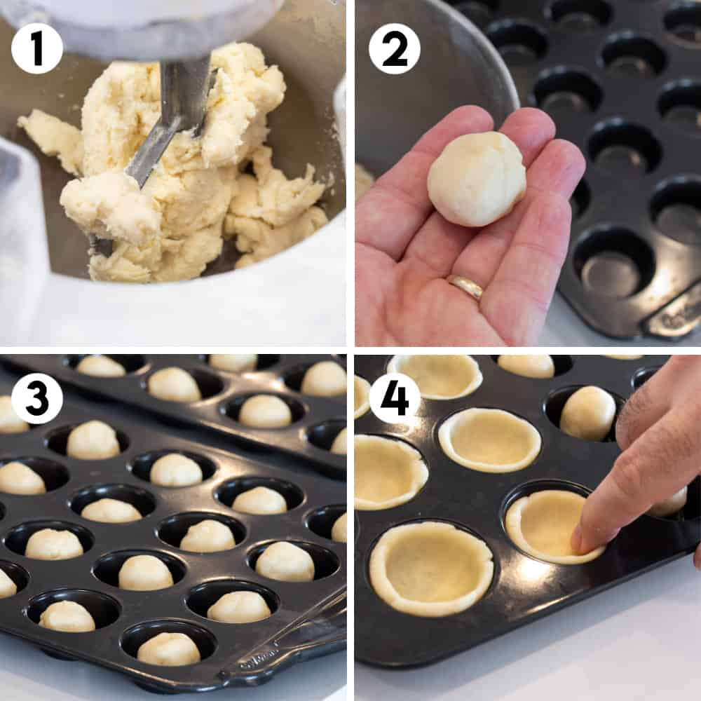 Step by step photos for how to make cream cheese pastry crust