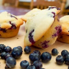 How to make blueberry muffins recipe. Easy to make muffins that come are moist and delicate with plenty of fresh blueberries throughout.