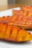 Crispy potato wedge appetizer that sliced like hasselback.