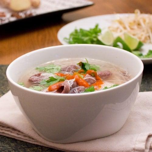 Beef Pho Vietnamese Soup (Pho Bo)