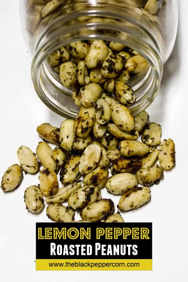 These roasted peanuts have the tang of lemon and the spice of pepper. The recipe is easy to make and only take 20 minutes to roast in the oven.