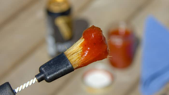 Easy homemade beer BBQ sauce, this recipe has instructions for how to make bbq sauce with beer. Great for grilling or smoking chicken, ribs, pork chops.