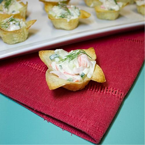 Crab Salad Wonton Cups