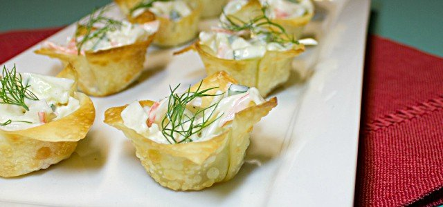 Spicy Crab In Wonton Cups Recipes — Dishmaps