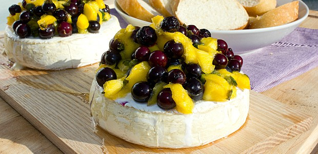 Guest Post on Chef Dennis' Blog – Blueberry Mango Salsa on Brie