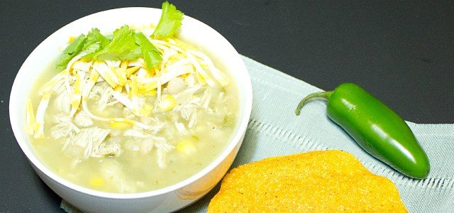 White Chili with Chicken, White Beans and Corn