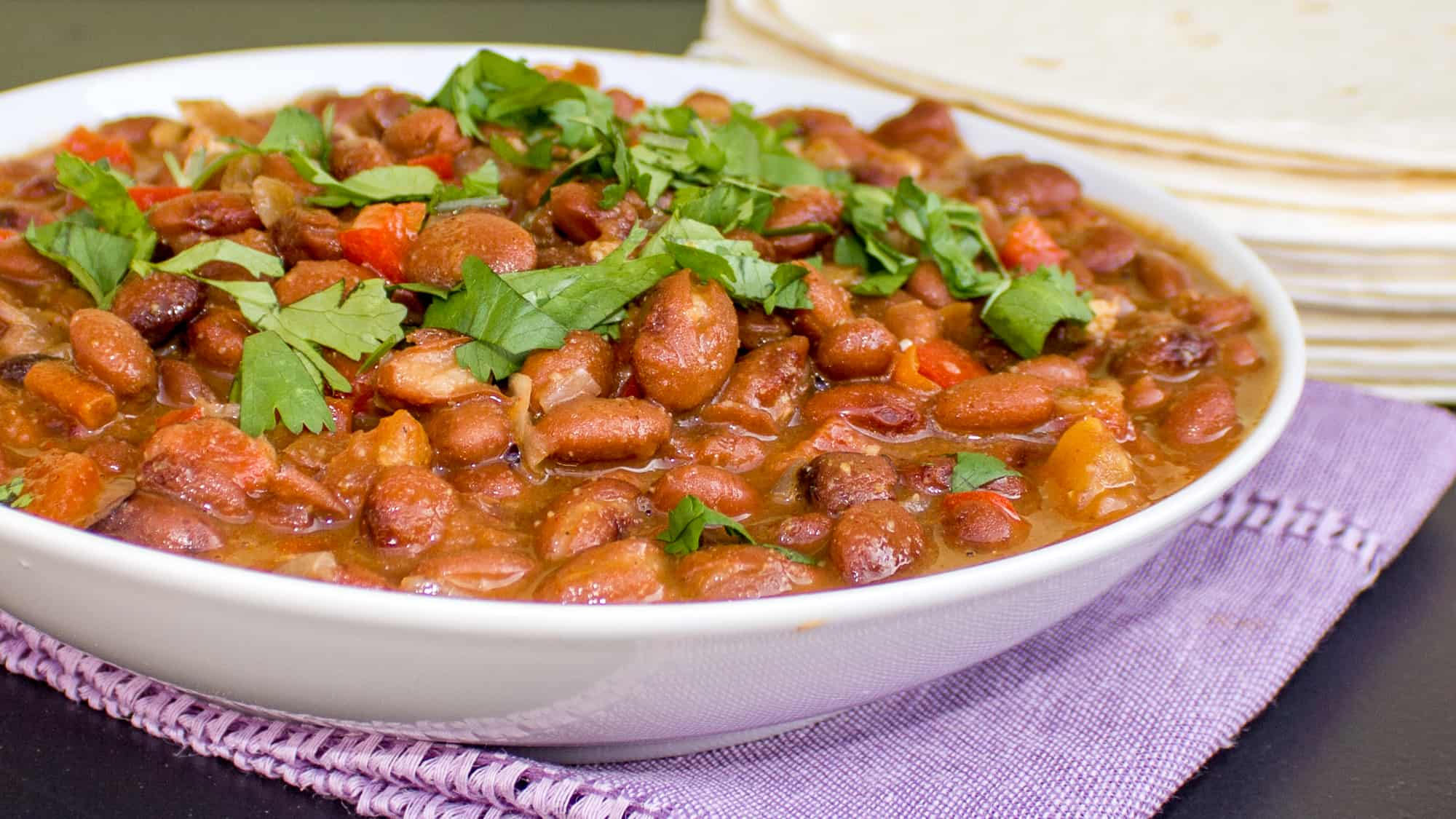 Mexican Pinto Beans Frijoles Charros Mash To Make Refried