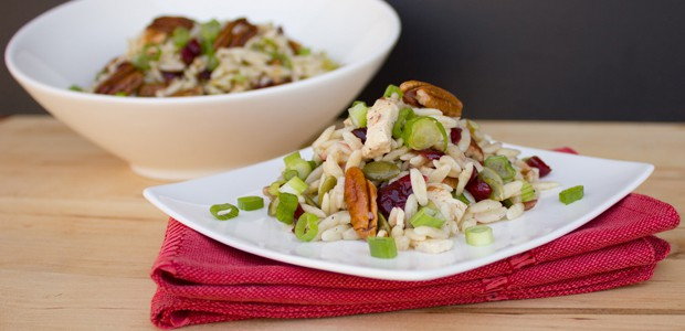 Chicken, Cranberry, Pecan and Orzo Salad with a Lemon Vinaigrette