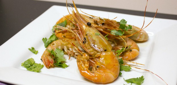 Chili Garlic King Prawns