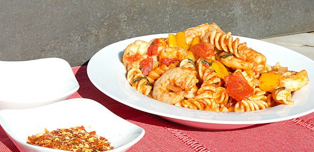 Shrimp Pomodoro with Rotini Pasta