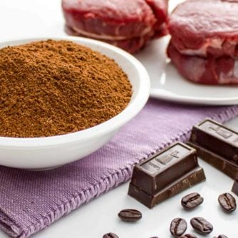 Coffee and Cocoa Rub for steak beef chocolate grilling