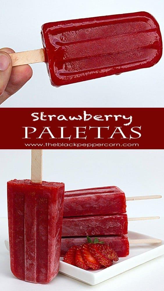 Strawberry Paletas Pin