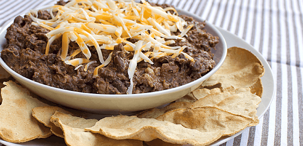 Ancho Chili Black Bean Refried Beans
