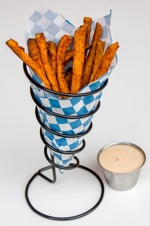 Sweet Potato Fries Recipe. Easy instructions for how to make homemade sweet potato fries in the oven.