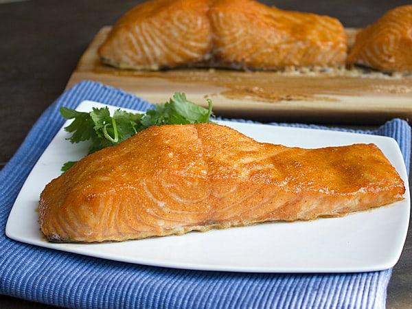 Cedar Plank Grilled Salmon with Brown Sugar Rub - Easy Recipe