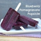 An easy to make fruit popsicle recipe that is refreshing and healthy with fresh or frozen blueberries. This paleta/ice pop is the perfect summer treat.