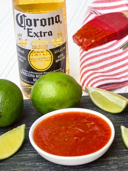 Homemade BBQ sauce with Corona Beer and Lime flavour Recipe