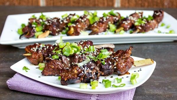 Grilled Beef Tenderloin Skewers Asian Marinade