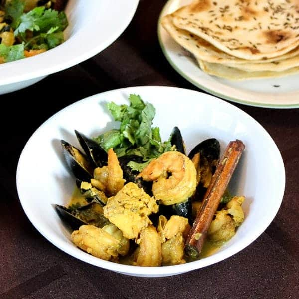 How to make Indian Curry with Fish, Shrimp and Mussels
