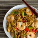 Shrimp and Pork Chow Mein