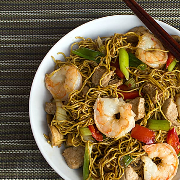 how to make shrimp chow mein recipe