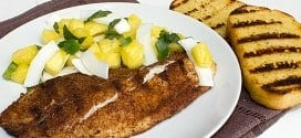 Grilled Jerk Tilapia With Pineapple Coconut Salsa