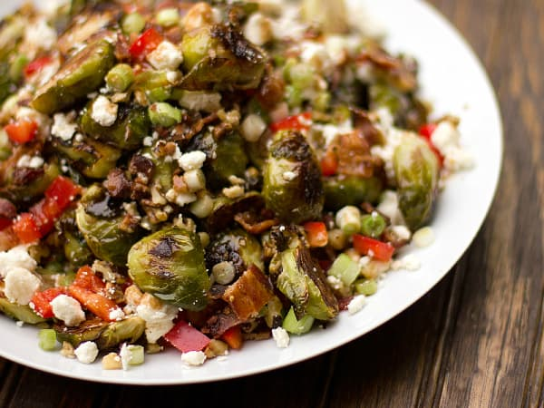 roasted brussels sprout salad 2