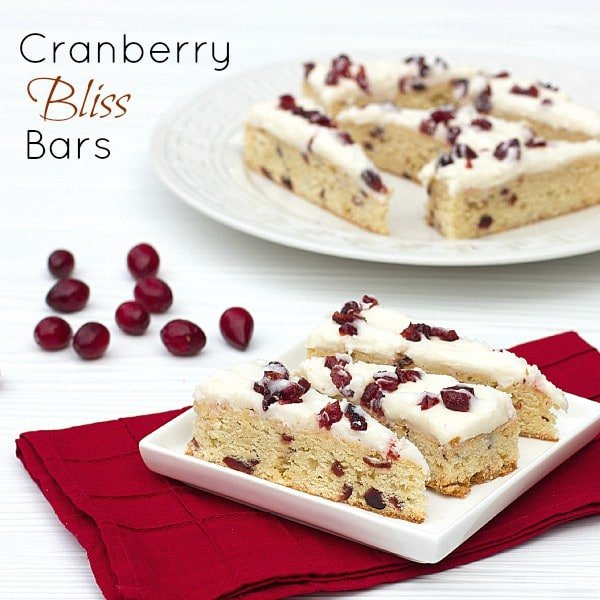 Cranberry Bliss Bars - copy cat recipe of Starbucks bars