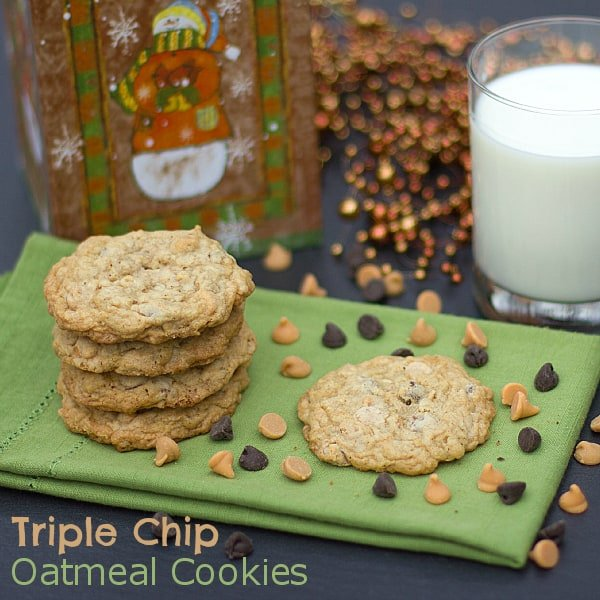 triple chip oatmeal cookies text