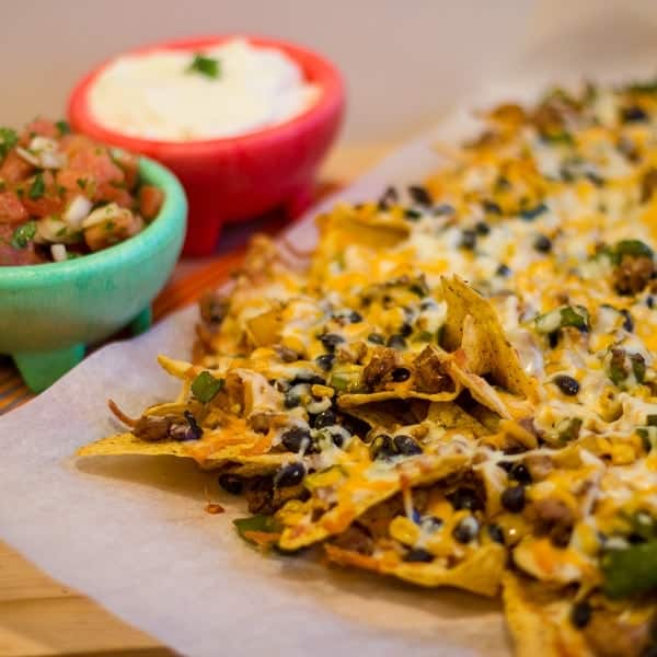 Ground Chicken Black Bean and Corn Nachos sq1