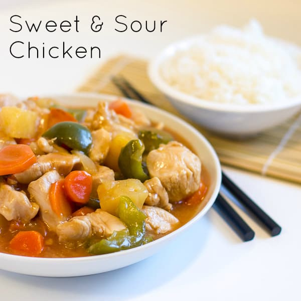Sweet and sour chicken text