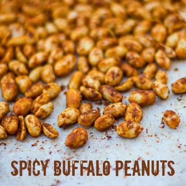 Spicy Buffalo Roasted Peanuts