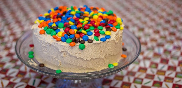 Fabulous Mm Chocolate Peanut Butter Layer Cake Funny Birthday Cards Online Hendilapandamsfinfo