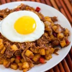 Pulled Pork Breakfast hash recipe