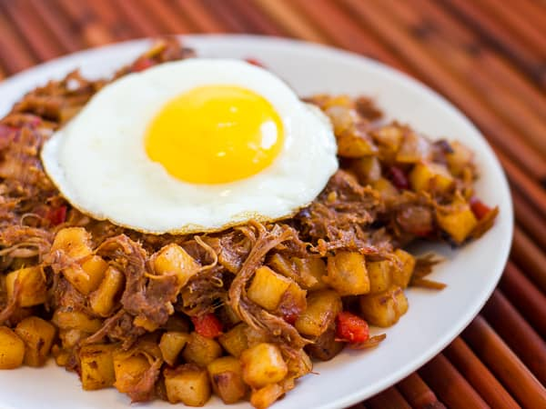 Pulled Pork Breakfast hash recipe