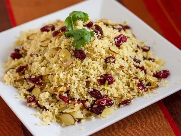 Couscous Recipe Cranberries Almonds Cranberry almond couscous 4x3