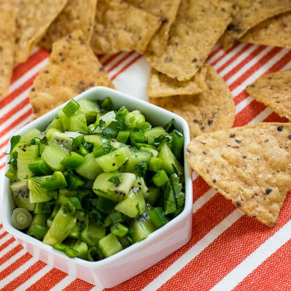 This kiwi jalapeno salsa is perfect scooped up with tortilla chips. It ...