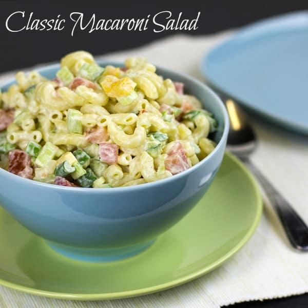 Classic Macaroni Salad Recipe - easy mayo based dressing