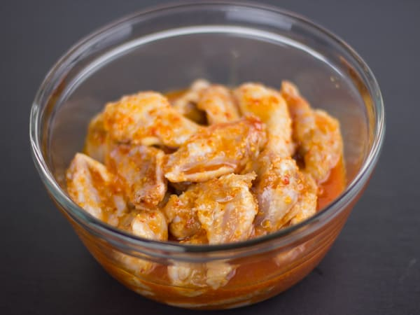 Sweet Thai Chicken Wings in marinade