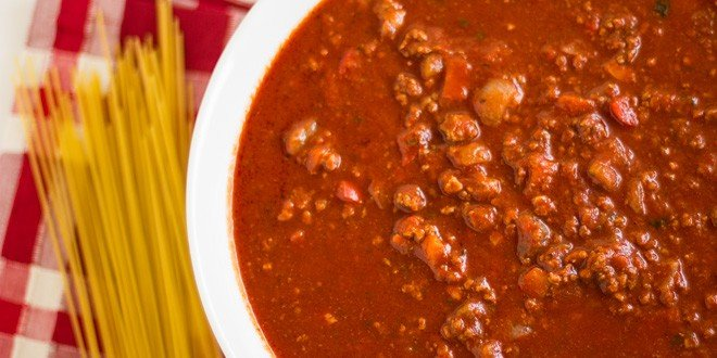 Classic Hearty Italian Meat Sauce - Homemade Spaghetti Recipe
