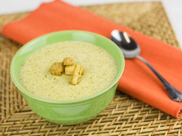 Cream of Broccoli and Cheddar Soup