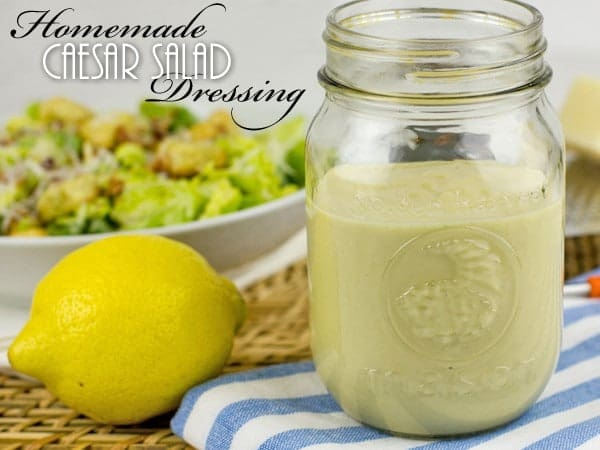 Homemade Caesar Salad Dressing text