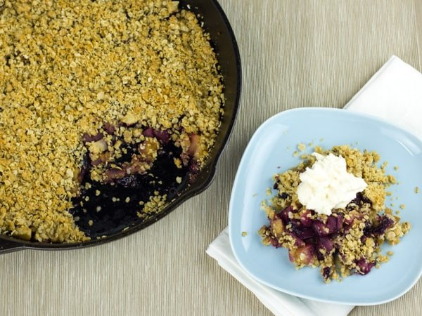 Apple Blueberry Crumble-6