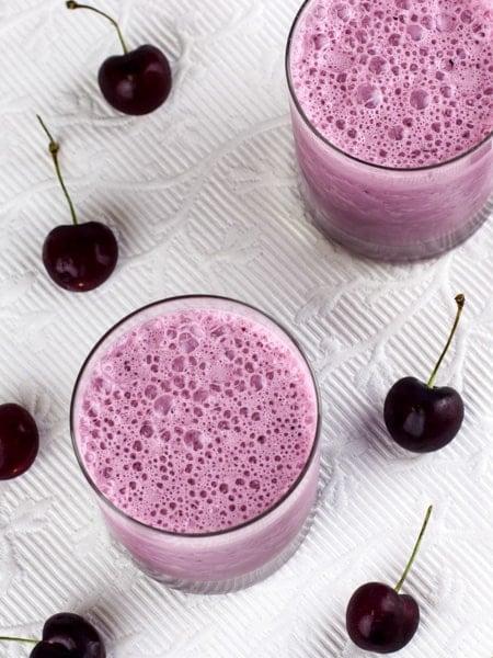 Black Cherry Milkshake Smoothie-3